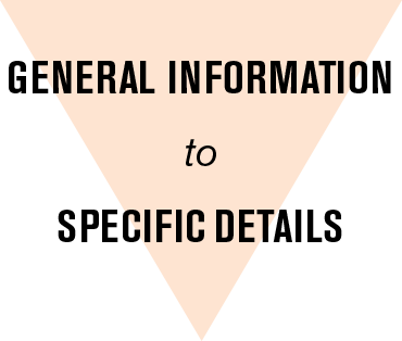 General Information to Specific Details